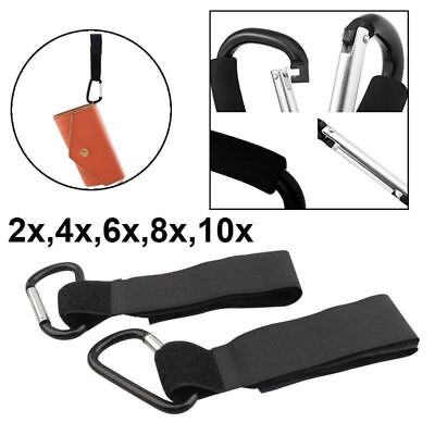 2x 4x 6x 8x 10x Pram Pushchair Mummy Carry Bag Shopping Large Buggy Hooks Clips