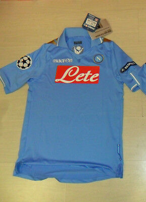 Football Napoli 2012 T-Shirt Size M Champions League Cup + Patch Uefa