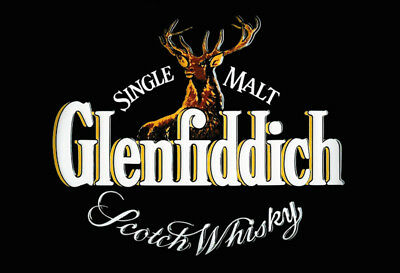 Glenfiddich Scotch Whisky Logo Blechschild Schild gewölbt Tin Sign 20 x 30 cm