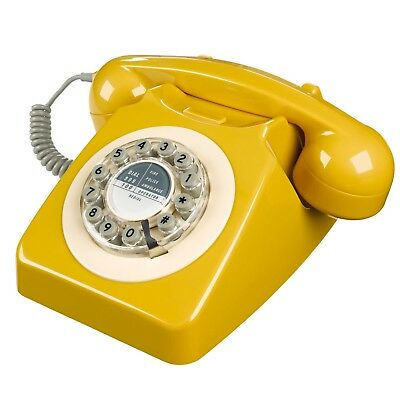 Wild and Wolf Retro 746 Telephone in English Mustard