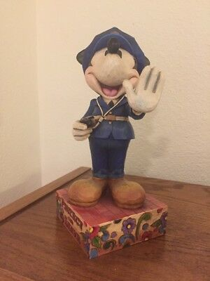 Jim Shore Mickey Mouse Police Policeman Figurine Serve and Protect Disney