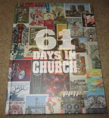ERIC CHURCH Hardcover 2017 Tour Book 61 DAYS IN posters setlists Holdin My Own