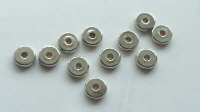 50 OR 00 Lovely CCB Silver Plated Flat Round Spacer Beads 8mm x 3mm