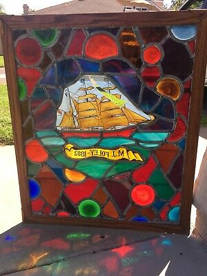 Unique Antique Stained Glass Window