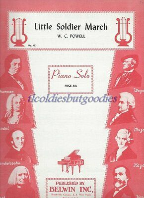 1930 Little Soldier March Piano No 423 Powell Rare Antique Original Sheet Music
