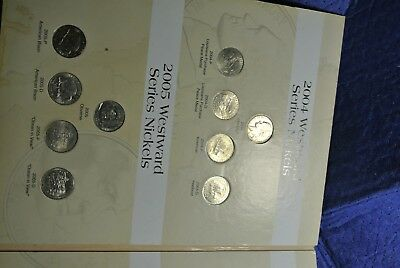 Westtward Journey nickles   and a shield, liberty and buffalo  in folder