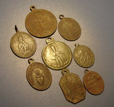 Ancient Amulets, Icons. Bronze. Copper. Original.