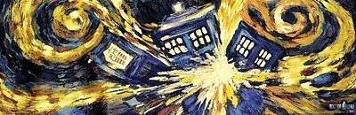 DOCTOR WHO POSTER Vincent van Gogh Episode Exploding Tardis 22x34 in Wall Poster