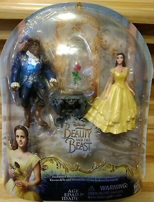 Disney Beauty and the Beast Enchanted Rose Scene Doll Figure Playset Hasbro NEW
