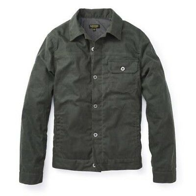 Flint and Tinder Men's Flannel-Lined Waxed Trucker Medium Jacket