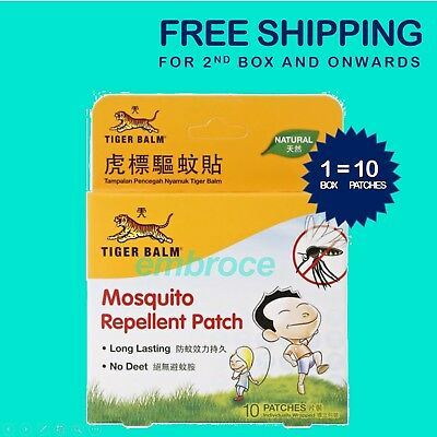 Mosquito Repellent Patch Tiger Balm 40 Patches No Deet Free