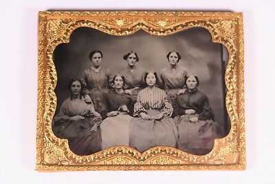 1/4 Plate Occupational Ambrotype (Seamstresses?)