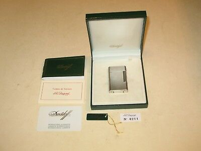 Davidoff ~S.t.dupont~ Silver Briquet Lighter In Box & Papers