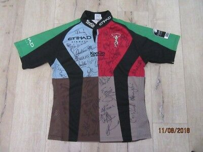 Harlequins Official Team signed KOOGA ETIHAD Rugby Shirt