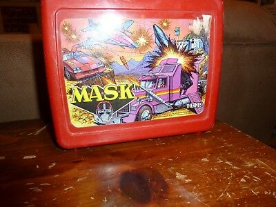 Mask Lunch Box - Thermos - Vintage 1985