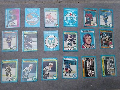 OPC NHL 1979-80 Hockey 229 singles, most EX, some M, ungraded