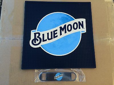 BLUE MOON Bar, Rail, Spill Mat Commercial Grade, 14 x 14 with Speed Opener-NEW