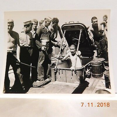 Ww2 Original Photos Captured Japanese Prisoner And Ship Written Description
