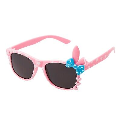 Girls Pink Bunny Bow Sunglasses Classic  Childrens Kids Sunglasses Shades UV400