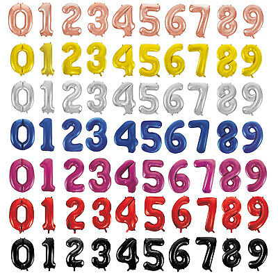 """34"""" Giant Foil Number Air Helium Glitz Large Balloons Birthday Party Wedding"""