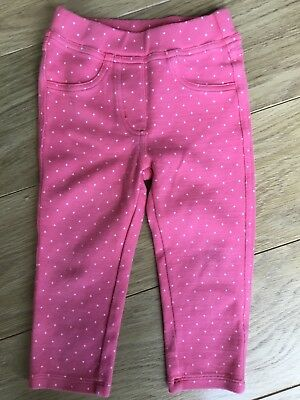 Baby Boden Girl Polka Dot Soft Pull On Cotton Trousers 18-24 Months