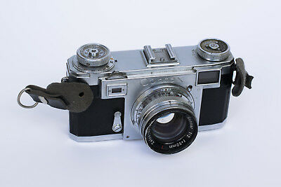 Zeiss Contax IIa Rangefinder Camera w/ Zeiss-Opton Sonnar T 50mm f/2 PARTS ONLY