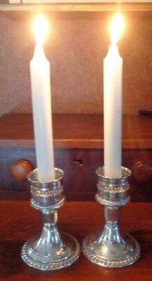 Antique Gorham Sterling Silver Candle Holders