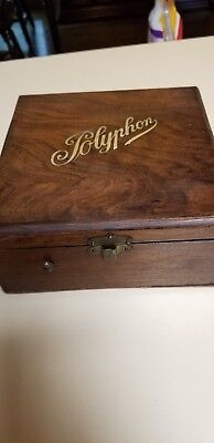 antique disk music box from Germany