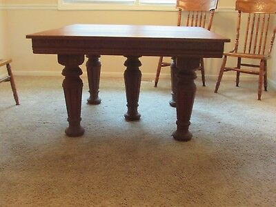Antique Oak Dining Table Country French Comes With 6 Leaves