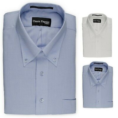 Donatelli Big and Tall Button-Down Dress Shirt | Classic Pinpoint