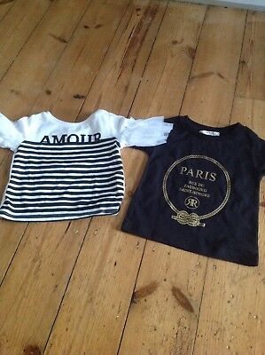 Baby girls river Island tops X 2 -0-3 months-