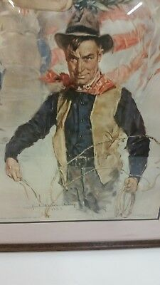 Will Rogers 1935 Memorial Fund Poster by artist Howard Chandler Christy