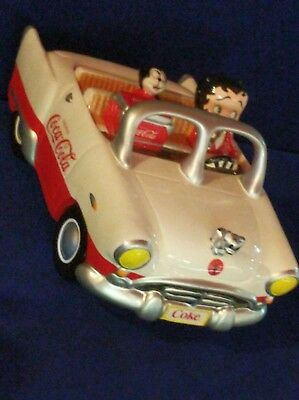 Coca Cola Betty Boop Driving Car With Bimbo Cookie Jar With Original Box RARE!