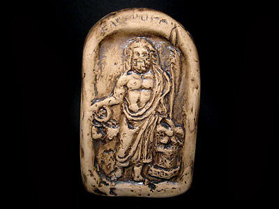 Greek Style Votive Terracotta Plaque, Depicting Zeus, Replica!!!