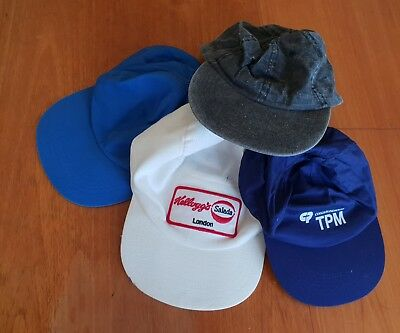 Vintage 4 Mixed different Mens  Fabric Caps