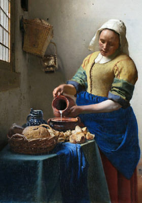 The Milkmaid VERMEER LARGE A3 SIZE QUALITY CANVAS ART PRINT