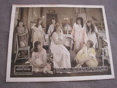 RARE 1918 Lobby Card Cecilia of the Pink Roses Marion Davies with schoolmates