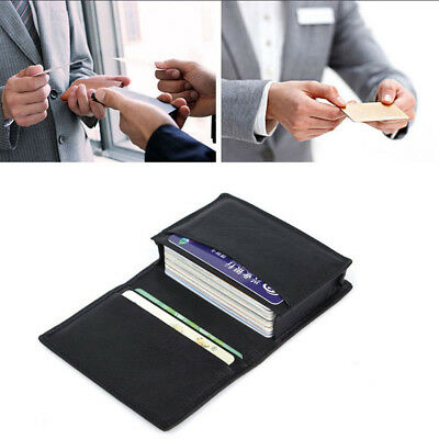 Luxury Men's Leather Expandable Credit Card ID Business Card Holder Wallet Case