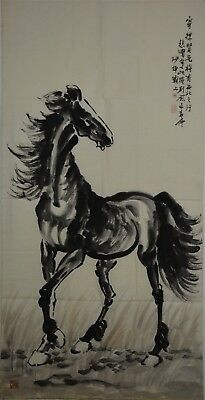 Beautiful Large Chinese Painting Signed Master Xu Beihong No Reserve L2752