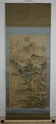 Superb Large Chinese Painting Scroll Signed Master Xia Gui Y9935