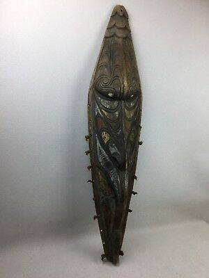 Antique Papau New Guinea Sepik River Carved Mask Very Old