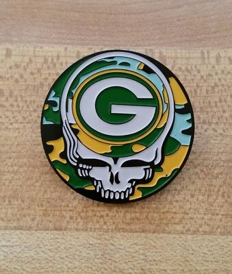 Grateful Dead Steal Your Face Greenbay Packers Pin.