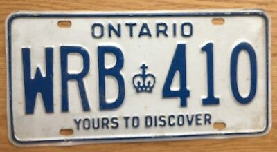 Ontario Canada (unknown year) Yours to Discover Vintage License Plate See Photos