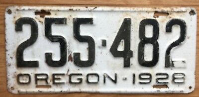 Oregon 1928 Vintage License Plate See Photos