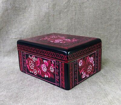 Nice Olinala Lacquered Box. Mexican Folk Art.