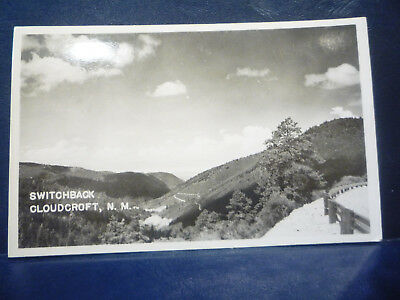 RPPC Cloudcroft, NM NEW MEXICO Otero County - Switchback - Real Photo