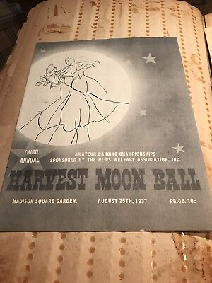 1937 Harvest Moon Ball Program & Ticket Madison Square Garden MSG NYC Contest