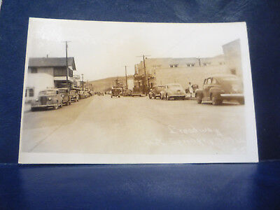 RPPC Hot Springs, NM NEW MEXICO Broadway Street View Stores, Signs, Old Cars