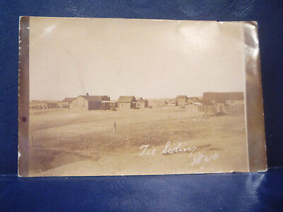 1911 RPPC Tie Siding, WY Wyoming Railroad Tie Making Small Town Posted MILO, WY