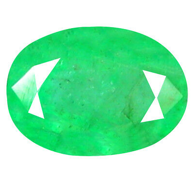 1.11 ct EYE-CATCHING OVAL CUT (7 X 5 MM) COLOMBIAN EMERALD NATURAL GEMSTONE